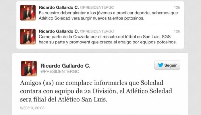 El Atlético San Luis contará con filial de 2ª división el Atletico Soledad