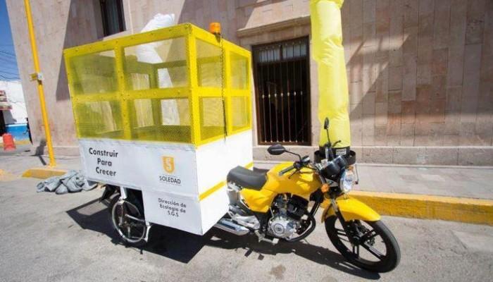 Iniciarán en Soledad capacitación de carretoneros, en el manejo de motos recolectoras