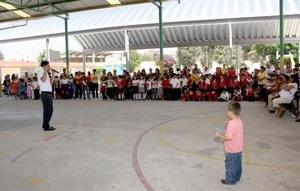 Obras de techado de escuelas no costarán a padres de familia: Gallardo