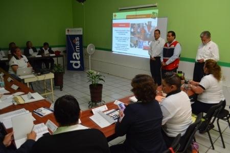 Impartieron curso a las Damas Voluntarias de la Cruz Roja