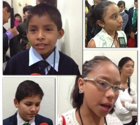 No más violencia familiar, bullying e inseguridad piden niños Diputados