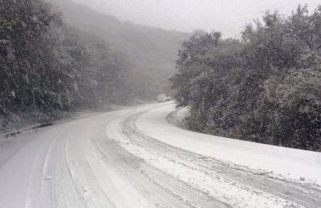 Nieve y aguanieve sorprenden a potosinos en varios municipios [VIDEO]