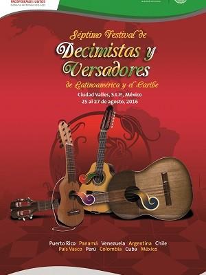 SLP será sede del VII Festival de Decimistas y Versadores de Latinoamérica y del Caribe