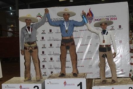 Oro para San Luis en Charrería de la Olimpiada Nacional