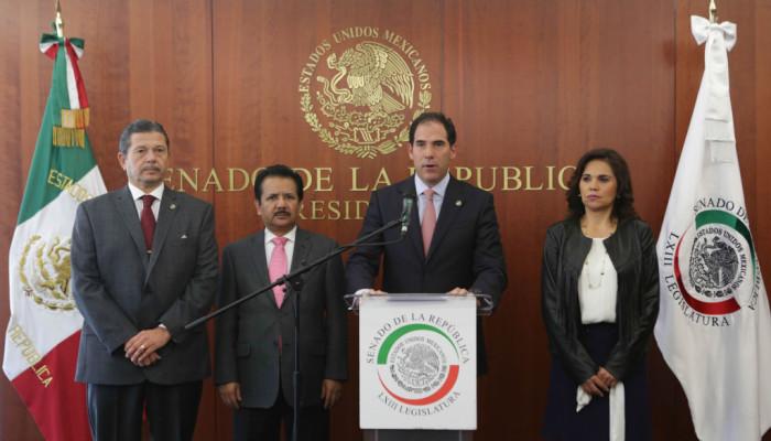 El Senado de la República invita a Donald Trump a establecer una relación de trabajo con México