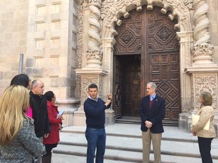 Prácticamente concluída la restauración de la Puerta Josefina del Templo del Carmen