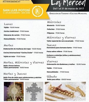 Inician talleres en el Centro Cultural Municipal, La Merced