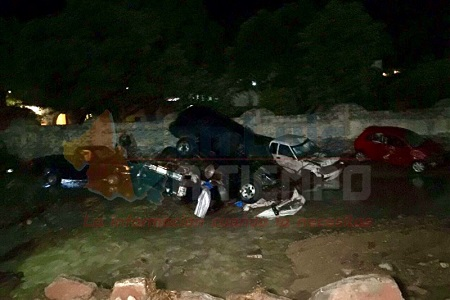 Tromba deja dos muertos y dos desaparecidos en Armadillo de Los Infante
