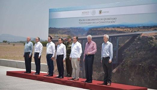 Asistió gobernador JM Carreras, a inauguración del Macro Libramiento en Querétaro