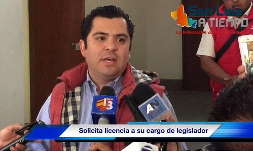 Enrique Flores pide licencia como diputado, tras video escándalo  [VIDEO]