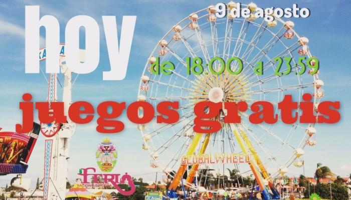 Anuncian juegos mecánicos gratis en la Fenapo, hoy de 6 a 12