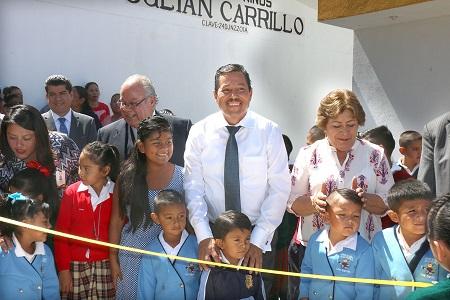 Ricardo Gallardo inauguró ciclo escolar en el Jardín de Niños, Julián Carrillo