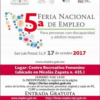 El 17 de octubre, Feria del Empleo para Personas con Discapacidad y Adultos Mayores
