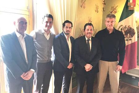 Alcalde Ricardo Gallardo, se reunió con consejero del Atlético de Madrid