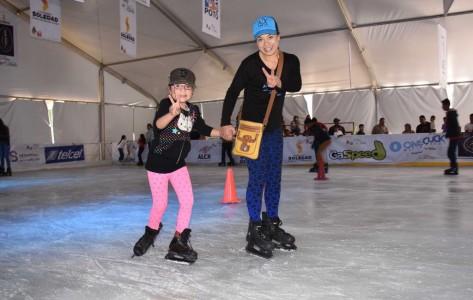 Pista de hielo gratuita en Soledad, para disfrute de miles de familias
