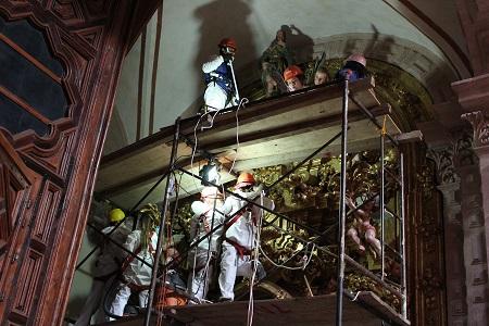 Estudiantes de la UASLP colaboran en restauración de templo en Taxco, Guerrero