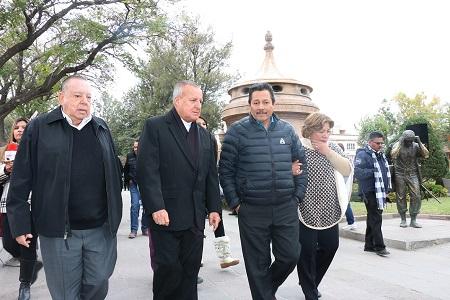 Inauguró el alcalde Ricardo Gallardo la rehabilitación de la Calzada de Guadalupe