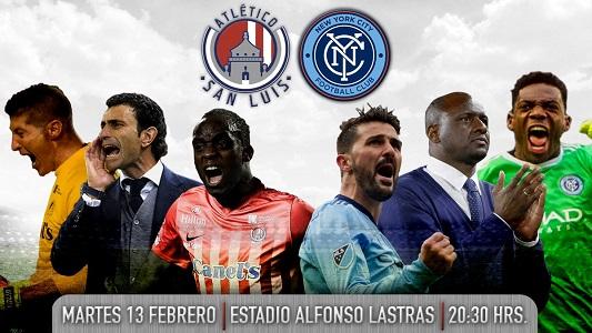 Atlético de San Luis enfrentará a David Villa y el New York City, en el Alfonso Lastras