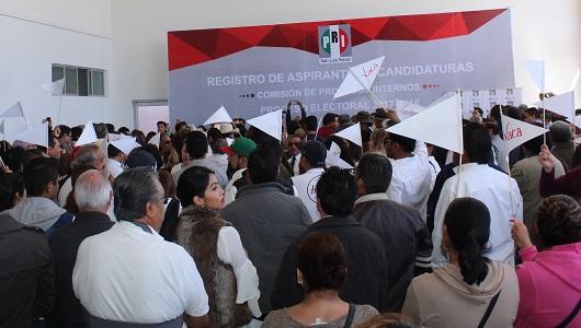 Se registran 35 aspirantes a candidaturas para diputados locales en el PRI