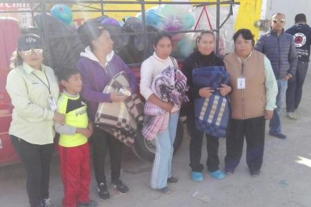 Participación Ciudadana de Soledad, inició con entrega de ropa abrigadora