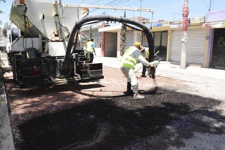 Se invierten 10 millones de pesos en Programa Permanente de Bacheo en Soledad