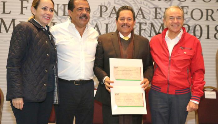 Ayuntamiento de SLP recibe cerca de 600 mdp de recursos federales