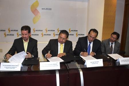 Ayuntamiento de Soledad firmó un convenio de colaboración con la CEEAV