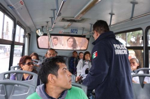 Dan resultados, operativos de seguridad pública en el transporte urbano