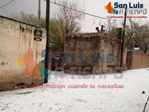 Tromba y granizada, azotaron el municipio de Venado [fotografías]