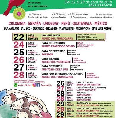 SLP sede del Festival Internacional de Cuentería Guachichila