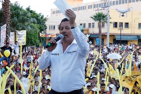 """""""El trabajo es mi carta de presentación"""" dice Ricardo Gallardo al iniciar campaña"""