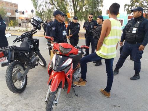 Seguridad Pública de Soledad realiza revisiones itinerantes a motocicletas