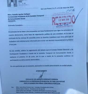 Cecy González, primera candidata a la alcaldía en aceptar el debate