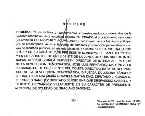 """PRD desmiente supuesta sanción del Tribunal por el uso de la palabra """"Gallardía"""""""