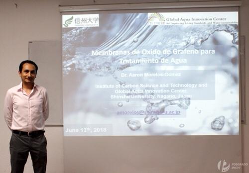 Egresado del Ipicyt desarrolla nanotecnología en Japón para desalinizar agua de mar