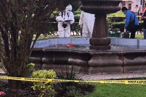 Encuentran persona sin vida en fuente de la Plaza de Armas