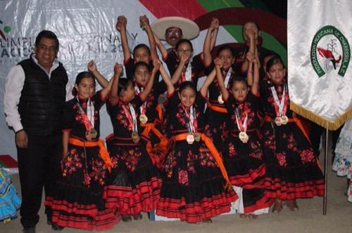 Escaramuza Infantil B, ganó oro, plata y bronce en la Olimpiada Nacional
