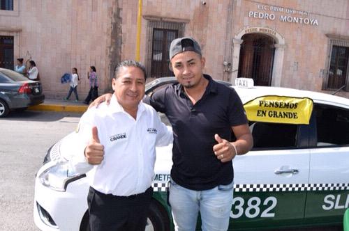 Agrupaciones de taxistas brindan su apoyo a Gilberto Hernández Villafuerte