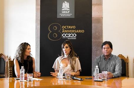 Filippa Giordano lista para el 8vo. Aniversario del CC200 de la UASLP.