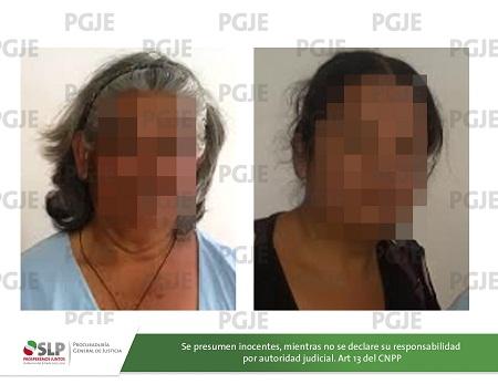 Agente de PGJE detienen en flagrancia a dos mujeres por robo de infante y/o sustracción de menores.