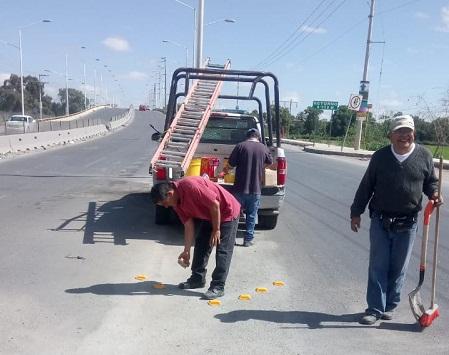 Seguridad Pública implementa dispositivo de seguridad vial en Periférico Oriente.