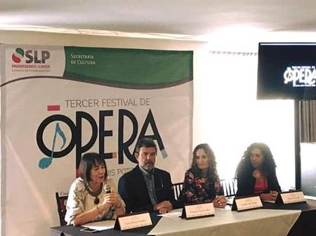 Presentan el 3er Festival de Ópera San Luis y Concurso de Canto Linus Lerner.