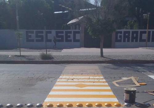 DGSPM de Soledad, realiza mantenimiento y colocación de señalética en inmediaciones de escuelas