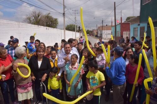 Alcalde de Soledad entregó pavimentación de la Calle Berriozabal