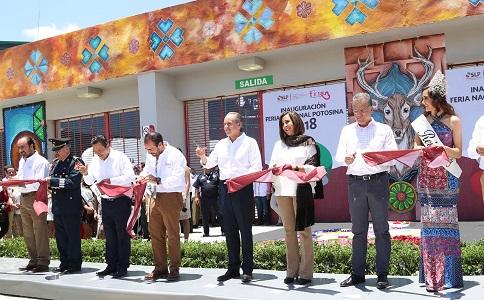 Inauguró el Gobernador del Estado, la edición 2018 de la Feria Nacional Potosina