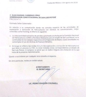 """No se contempla """"fracking"""" en la Huasteca potosina: Sener y Pemex"""