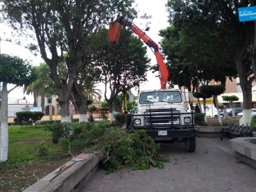 Mantiene Servicios Municipales de Soledad, atención en espacios públicos