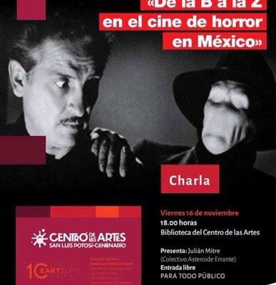 CEART invita a charla sobre cine de horror en México