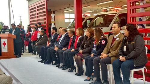 Inauguran nueva base de ambulancias de la Cruz Roja en la Zona Industrial