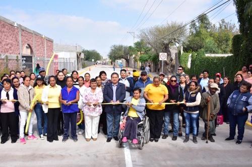 Alcalde de Soledad entregó pavimentación en la Colonia La Lomita